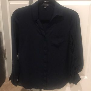 Classic Navy Blouse - The Limited - XS